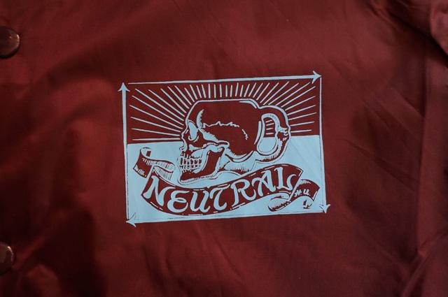 NEUTRAL ニュートラル HIDEMOTORCYCLE ヒデモーターサイクル COACHJACKET コーチジャケット