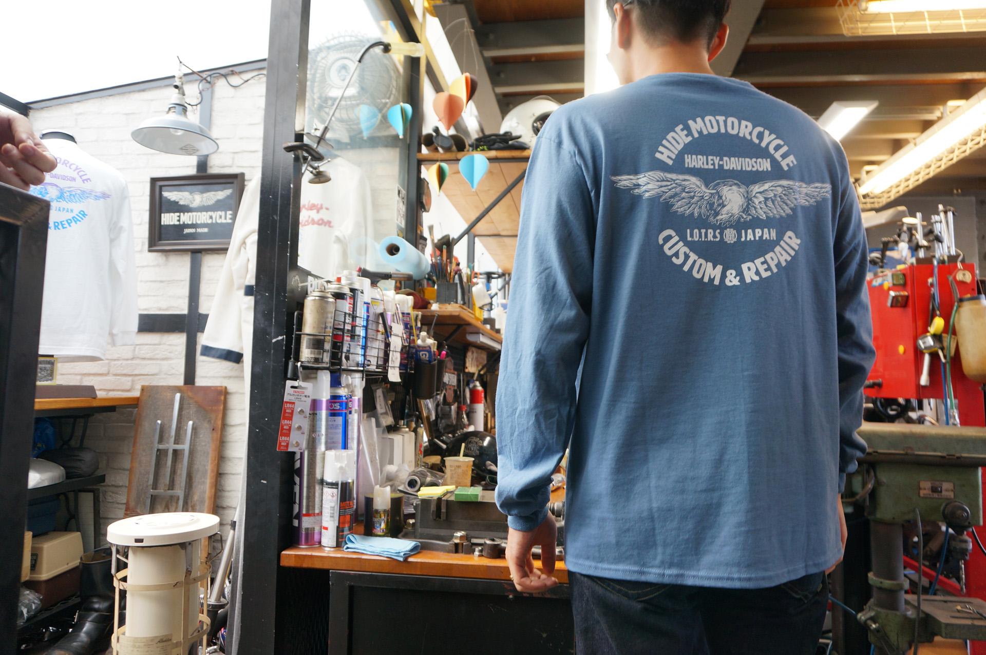 ヒデモーターサイクル hidemotorcycle ニュートラル neutral ロングスリーブTシャツ