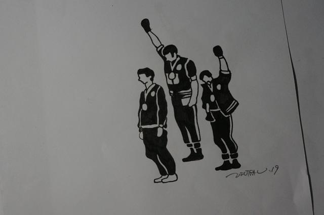 NEUTRAL ニュートラル シルクスクリーン PLOYD プロイド メキシコ68 オリンピック ブラックパワーサリュート