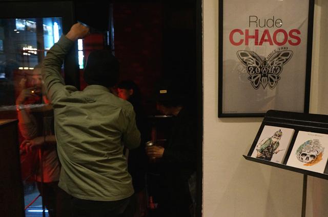 渋谷RUDEGALLERY(ルードギャラリー)でCHAOS DESIGN(カオスデザイン)と行ったイベント「RUDE CHAOS」