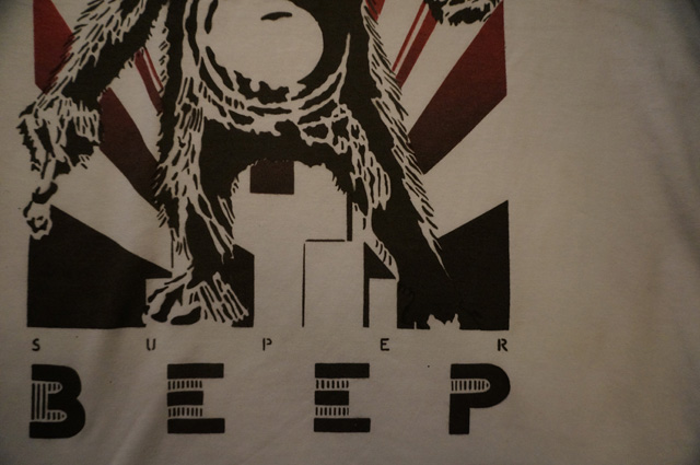 neutral ニュートラル ステンシルtシャツ beep 古河